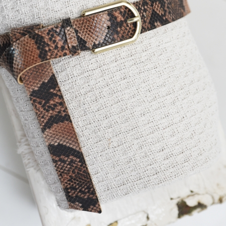 tailleriem slangenprint bruin