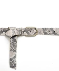 tailleriem slangenprint tannery leather