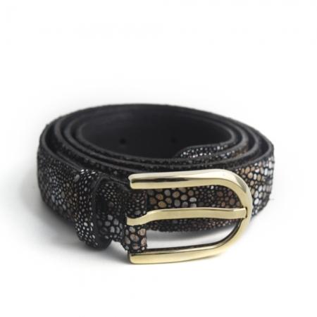 metallic-dots-damesriem-Tannery-Leather